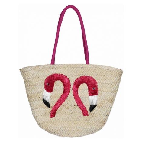 Zwillingsherz Torba plażowa beżowy / różowy