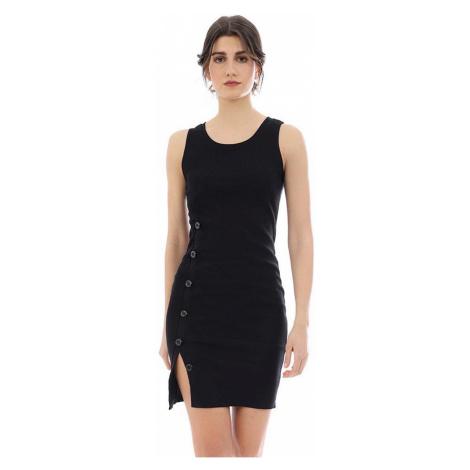 Czarne sukienki bez rękawów