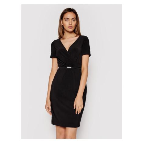 Lauren Ralph Lauren Sukienka koktajlowa 250785864002 Czarny Regular Fit