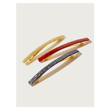 Pico For EDITED Biżuteria do włosów 'Glitter' złoty / czerwony / czarny