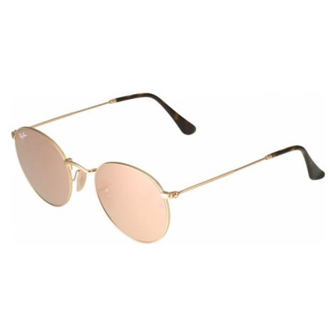 Ray-Ban Okulary przeciwsłoneczne 'Round' złoty