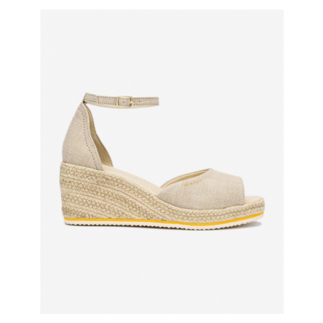Gant Wedgeville Buty wedge Beżowy