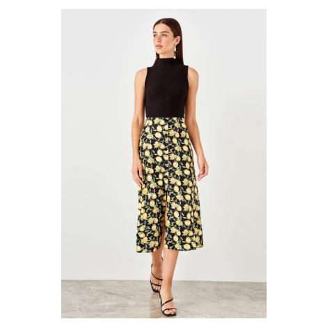 Trendyol Multicolored Lemon Patterned Skirt