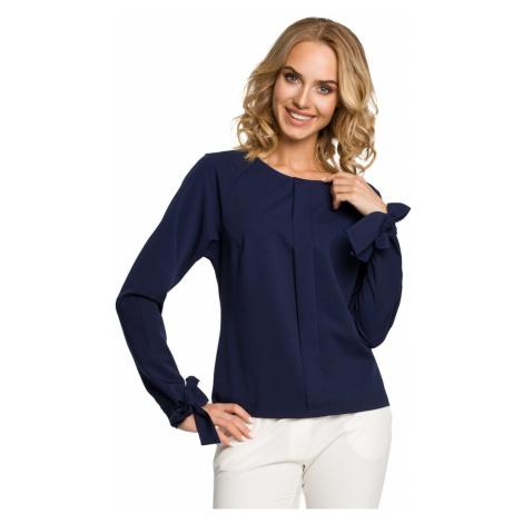 Wykonana z emocji bluzka kobiety M322 Granatowy Made of Emotion