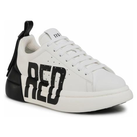 Sneakersy RED VALENTINO - UQ0S0E11JIB Bianco/Nero/Nero A01