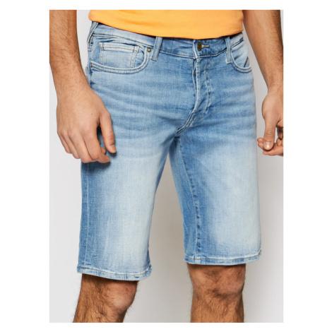 Guess Szorty jeansowe M1GD01 D4B73 Niebieski Slim Fit