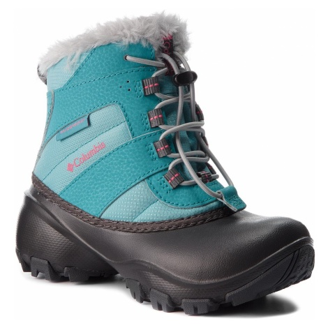 Śniegowce COLUMBIA - Childrens Rope Tow III Waterproof BC1323 Iceberg/Camellia Rose 341