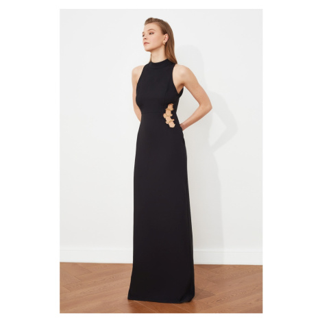 Trendyol Czarny talia Szczegółowa suknia wieczorowa & suknia dyplomowa