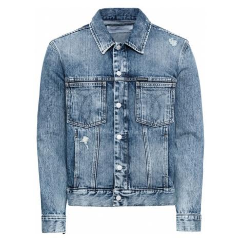 Calvin Klein Jeans Kurtka przejściowa 'MODERN CLASSIC OMEGA TRUCKER' niebieski denim