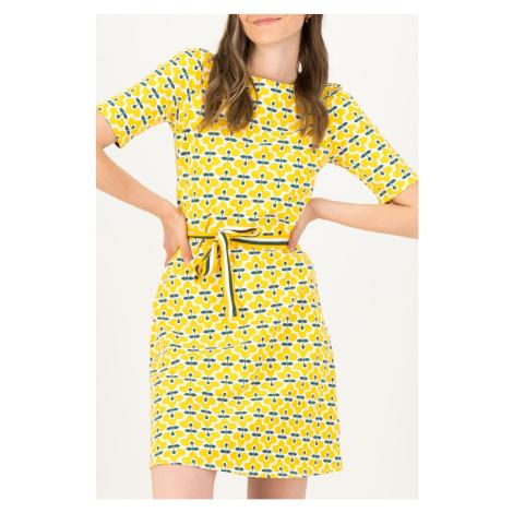 Blutsgeschwister żółty sukienka So Frei Real Retro