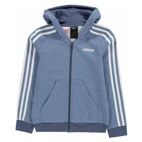Adidas 3 Stripe Zip Bluza z kapturem Juniorska