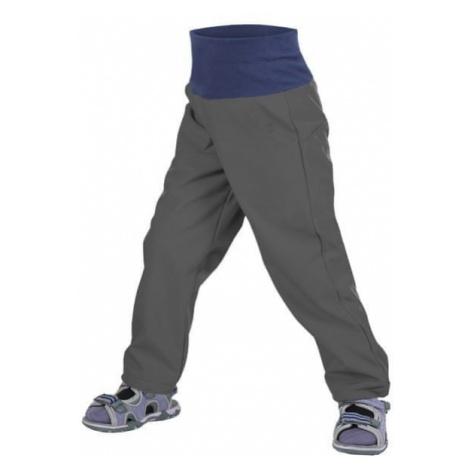 Unuo dziewczęce spodnie slim softshell bez ocieplenia szary