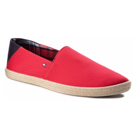 Espadryle TOMMY HILFIGER - Easy Summer Slip On FM0FM00569 Tango Red 611