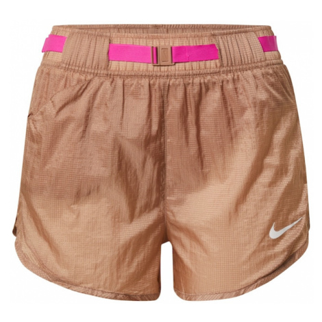 NIKE Spodnie sportowe 'Clash' brąz / różowy