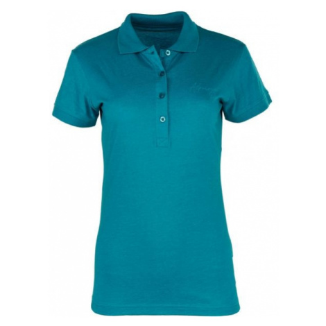ALPINE PRO ZENDAYA zielony S - Koszulka polo damska
