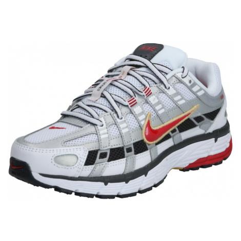 Nike Sportswear Trampki niskie 'Nike P-6000' biały / czerwony / platynowy