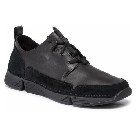 Sneakersy CLARKS - Tri Solar 261463197 Black Leather