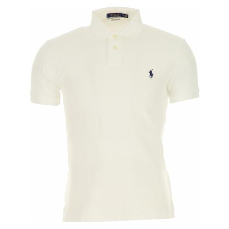 Ralph Lauren Koszulka Polo dla Mężczyzn Na Wyprzedaży, biały, Bawełna, 2019