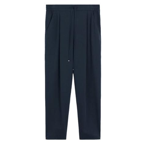 MANGO Spodnie w kant 'FLUIDO' niebieski