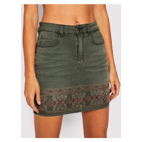 Desigual Spódnica jeansowa Fal_Osaka 20WWFN03 Zielony Slim Fit