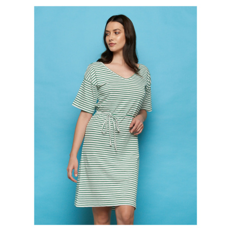 Tranquillo sukienka w paski Rola ze sznurówką