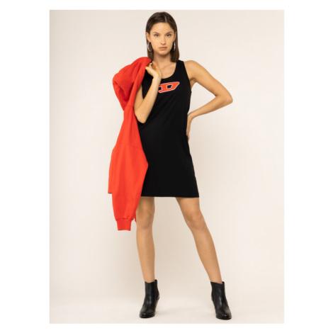 Diesel Sukienka codzienna T-Silk-A 00SWP3 0CATJ Czarny Regular Fit