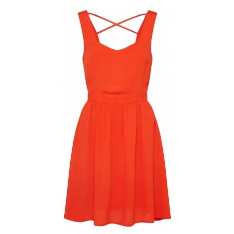 VILA Letnia sukienka pomarańczowy