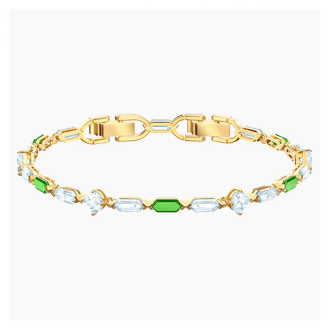 Oz Bracelet, White, Gold-tone plated Swarovski