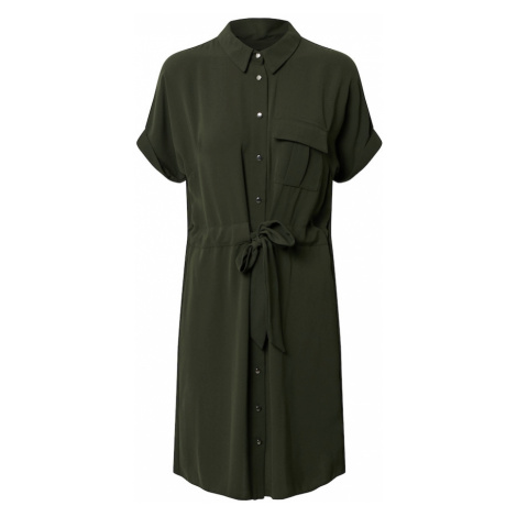 Dorothy Perkins Sukienka 'WOVEN SHIRT DRESS' khaki
