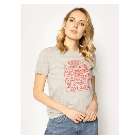 TOMMY HILFIGER T-Shirt WW0WW25173 Szary Regular Fit