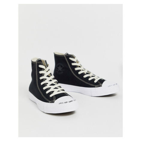 Converse black Chuck Taylor Hi All Star Renew recycled trainers