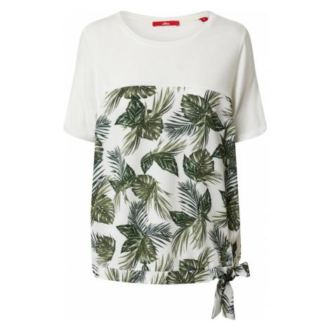 S.Oliver Koszulka zielony / biały