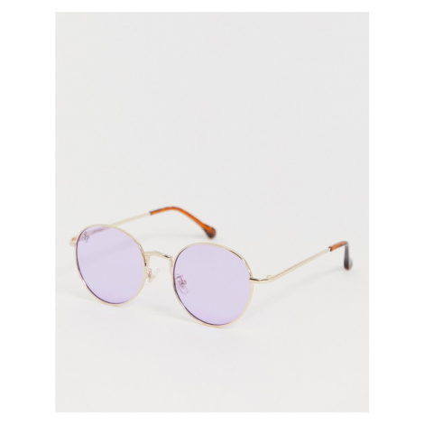 Jeepers Peepers round sunglasses with purple lens