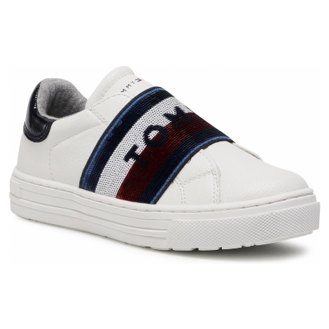 Sneakersy TOMMY HILFIGER - Low Cut Sneaker T3A4-30797-1017 M White/Blue X336