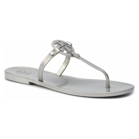 Japonki TORY BURCH - Mini Miller Flat Thong 51148678 Silver 040