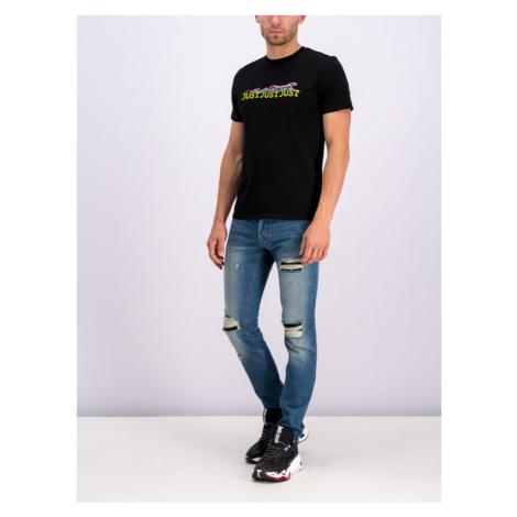 Just Cavalli T-Shirt S01GC0557 Czarny Regular Fit