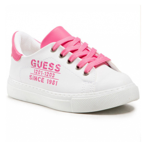 Guess Sneakersy Andrea FI5AND ELE12 Biały