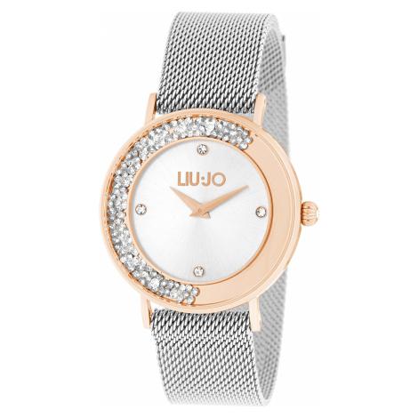 Liu Jo Dancing Slim Zegarek Srebrny Beżowy