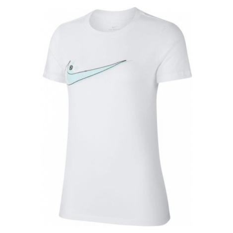 Nike SPORTSWEAR TEE DOUBLE SWOOSH biały M - Koszulka damska