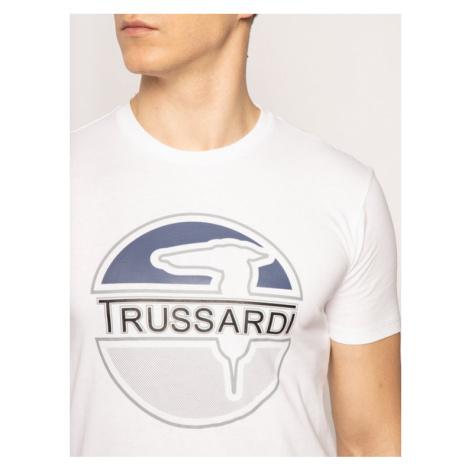 Trussardi Jeans T-Shirt 52T00323 Biały Regular Fit