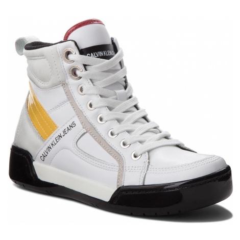 Sneakersy CALVIN KLEIN JEANS - Nikole R0806 White/White/Sunflowe