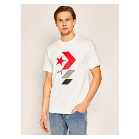 Converse T-Shirt Chevron 10017452-A01 Biały Regular Fit