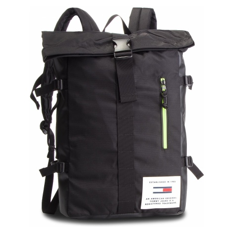 Plecak TOMMY JEANS - Tjm Cool Tech Roll Backpack AM0AM04321 002 Tommy Hilfiger