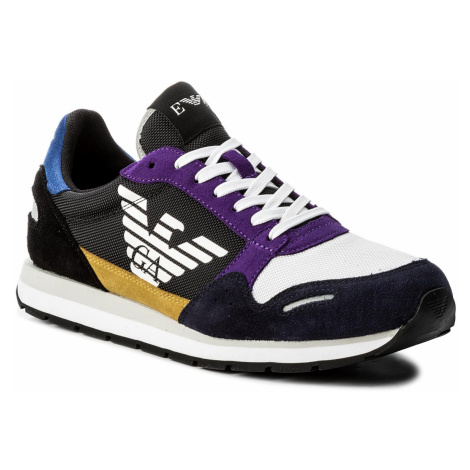 Sneakersy EMPORIO ARMANI - X4X215 XL200 A007 Navy Multicolor