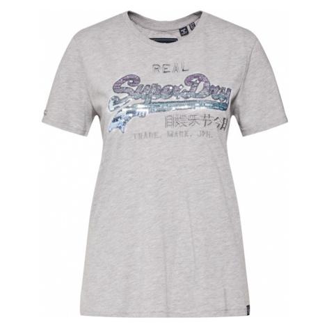 Superdry Koszulka 'OMBRE SEQUIN ENTRY' szary