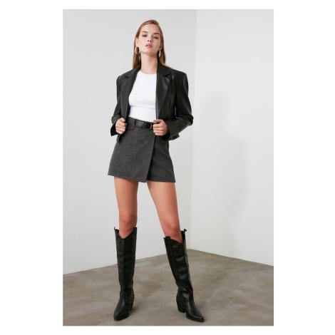 Trendyol Anthracite Plaid Shorts & Bermuda