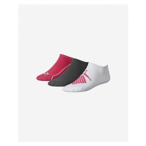 Puma 3-pack Skarpetki Różowy Biały Szary