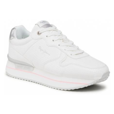 Pepe Jeans Sneakersy Rusper Bell PLS31188 Biały
