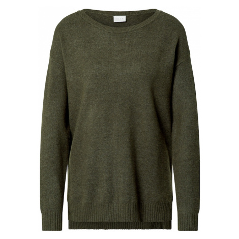 VILA Sweter ciemnozielony