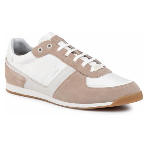 Sneakersy BOSS - Glaze 50407903 10214592 01 Open White 120 Hugo Boss